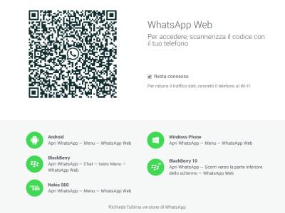 Whatsapp web, per messaggiare anche al computer