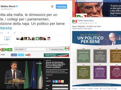 #MattarellaPresidente, il capolavoro di Renzi passa anche dai social