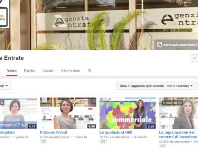 La best practice del canale Youtube dell'Agenzia delle Entrate