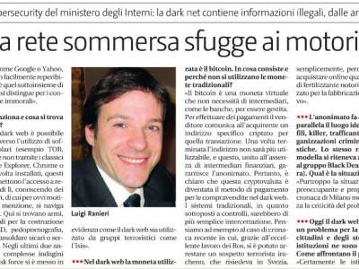 """Dark web, Ranieri: """"Così la rete sommersa sfugge ai motori di ricerca"""""""