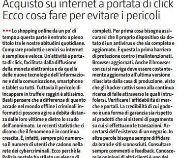 Acquisto su internet a portata di click. Ecco cosa fare per evitare pericoli